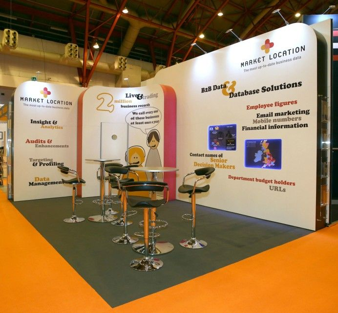 Flexible Exhibition Stands : M market location curved isoframe exhibit stand