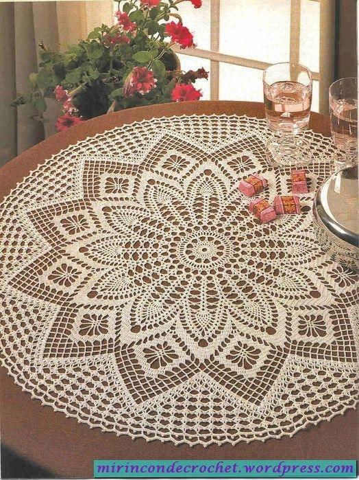 Pin de diyblue en Crochet Doilies | Pinterest | Carpetas crochet ...