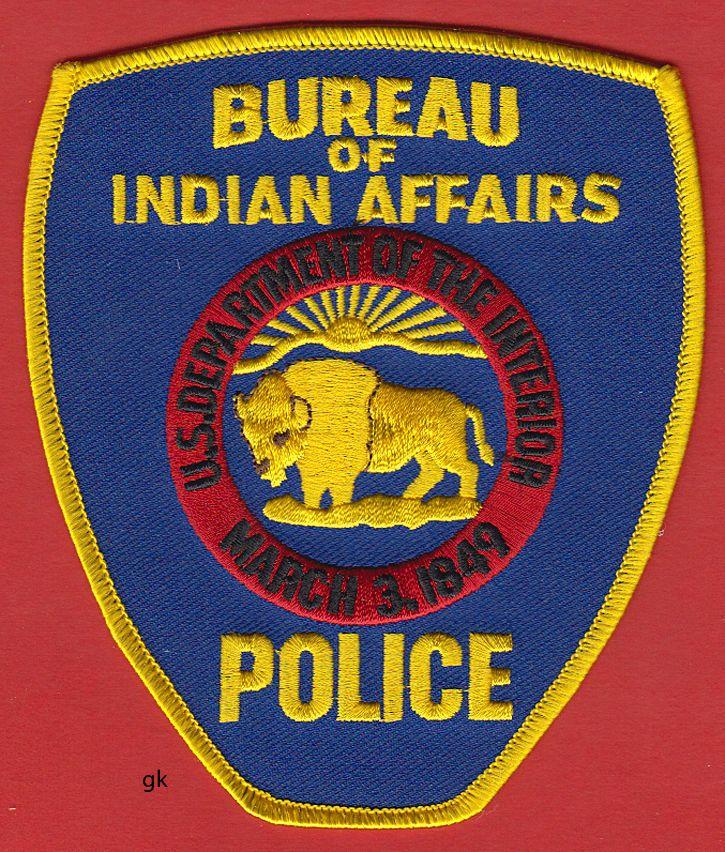 BUREAU INDIAN AFFAIRS DEPT. INTERIOR POLICE SHOULDER PATCH ALASKA Buffalo