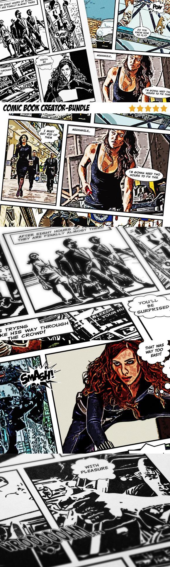 Comic Book Creator Bundle Actions 2000