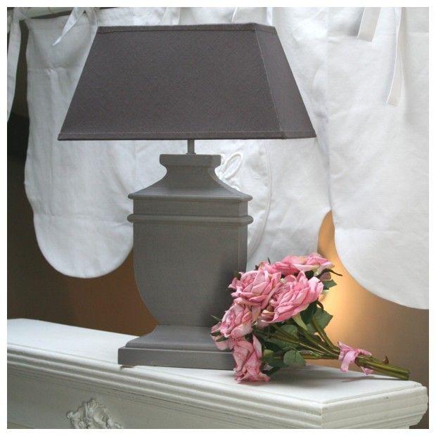 lampe bois taupe abat jour prune d co style gustavien style gustavien pinterest lampe. Black Bedroom Furniture Sets. Home Design Ideas