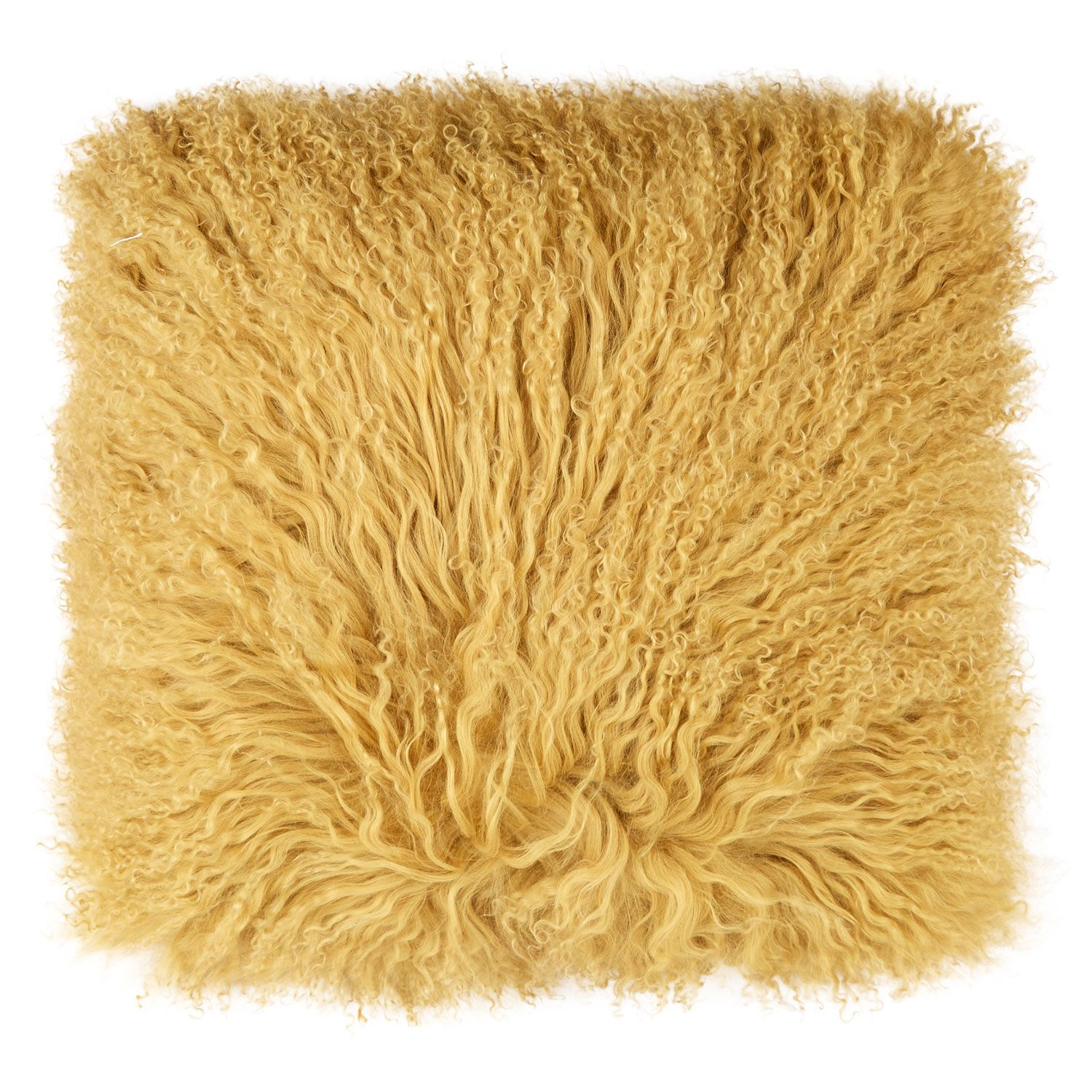 The Cushion Factory Yellow Mongolian Sheepskin Cushion Tk Maxx