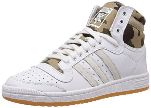 adidas Top Ten Hi, Baskets mode mixte adulte - Blanc (Neo White S08/New Navy Ftw/Collegiate Red), 36 2/3 EU