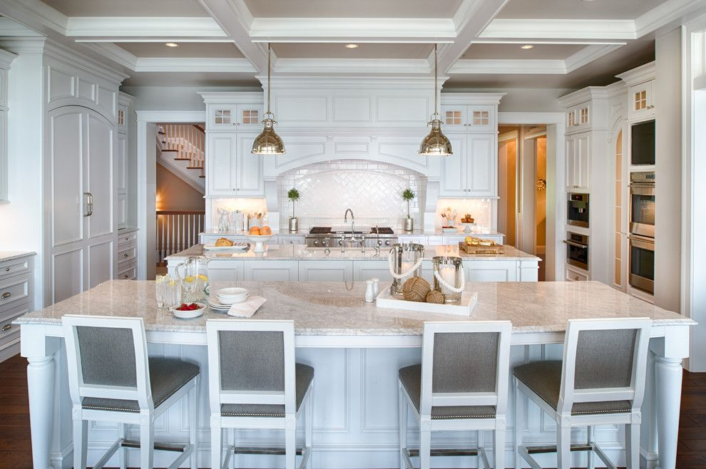 Sophisticated Seaside Manor By Eskuche Design Photos Stools For Kitchen Island Kitchen Island Stools With Backs Kitchen Layout
