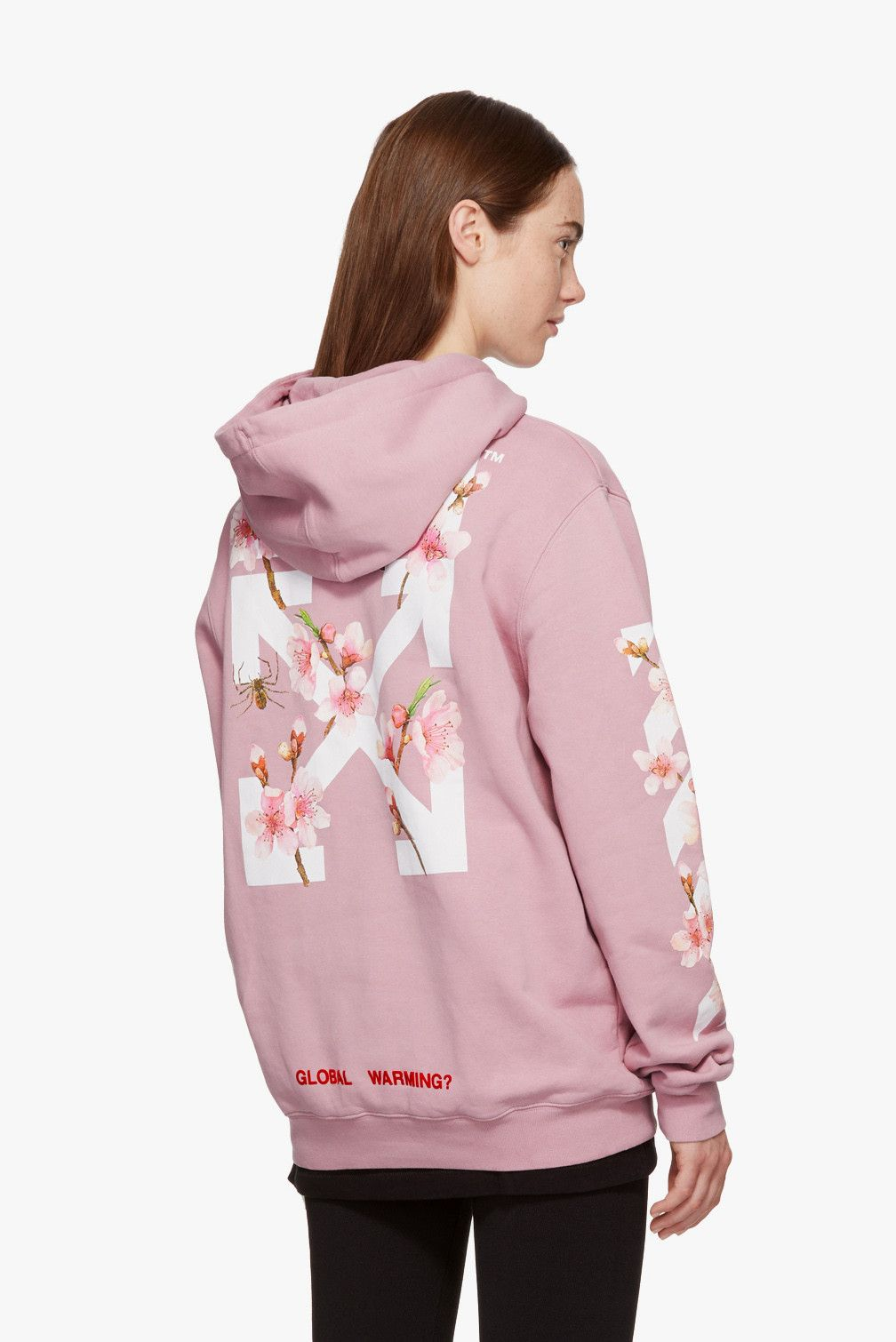 Off White S Pink Cherry Blossom Hoodie Is Cozy With A Statement In 2021 Off White Hoodie Hoodies White Hoodie [ 1510 x 1008 Pixel ]