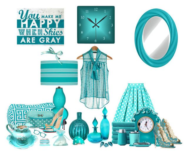 """""""Turquoise/White Finds"""" by carla-altum ❤ liked on Polyvore featuring art"""