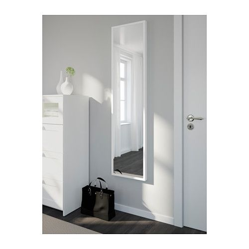 Spiegel Stave 40 use for closet doors stave mirror white 15 3 4x63