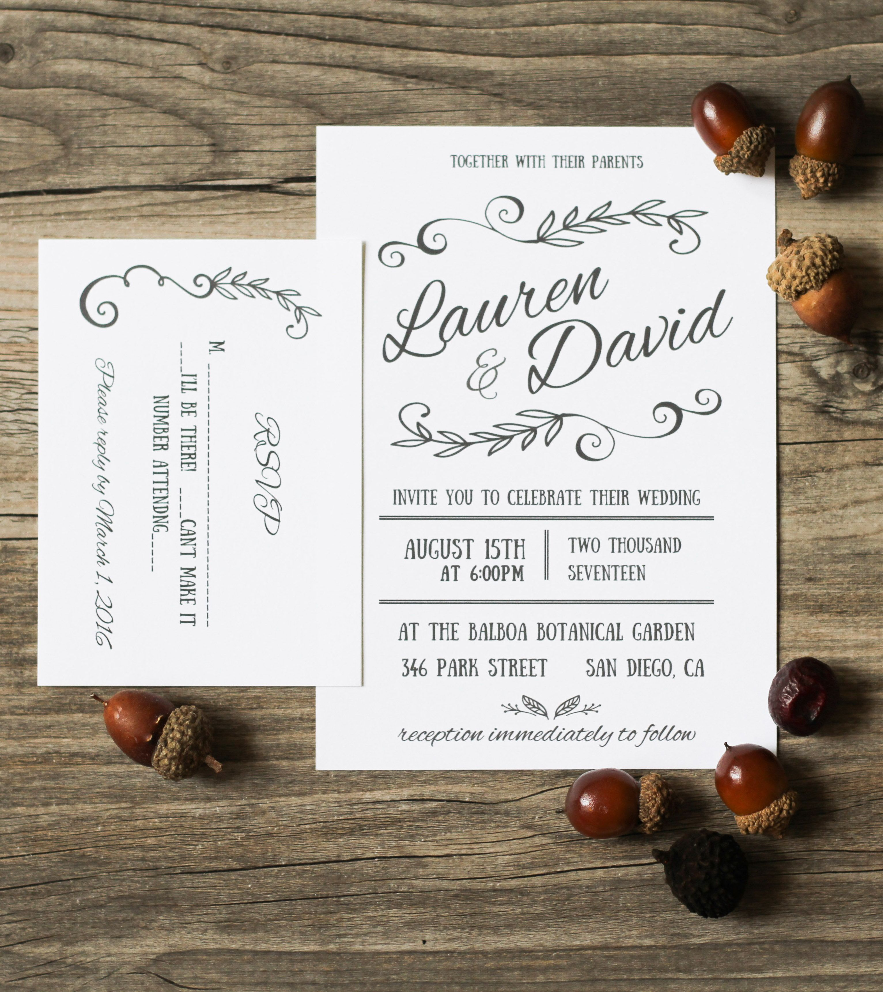 DIY Microsoft Word invitation templates that you