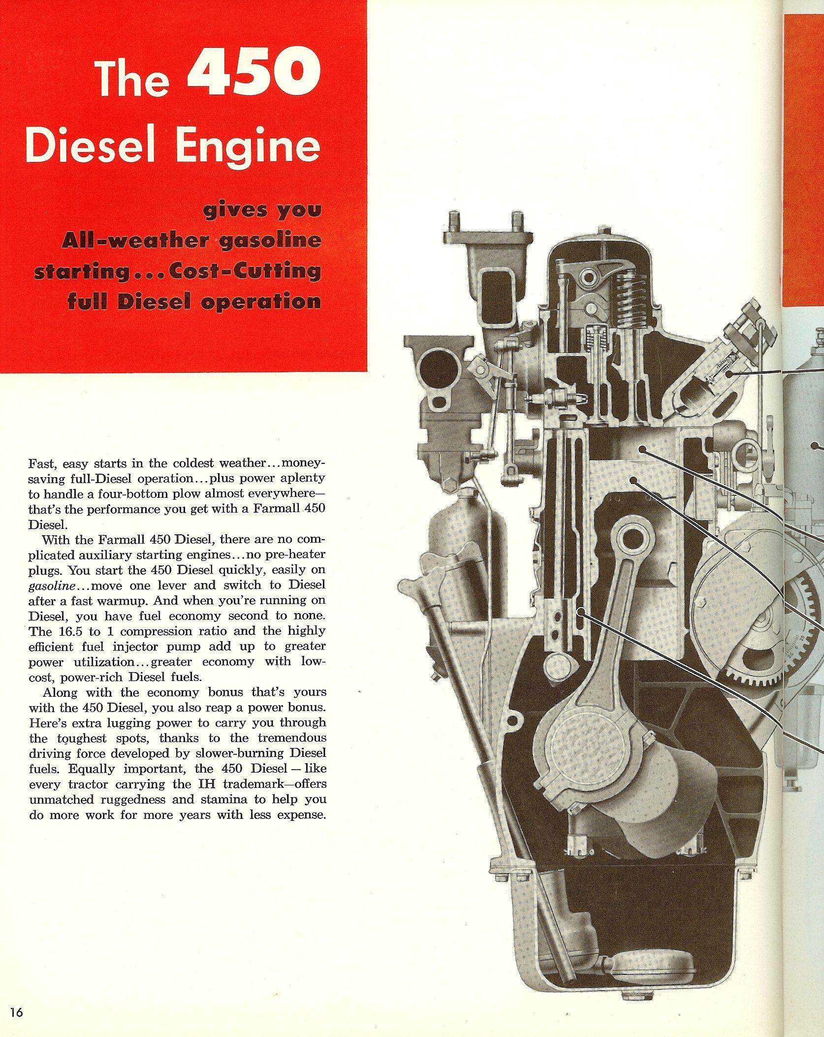 Farmall 450 Diesel Engine Farmall Classic Cars Muscle Diesel