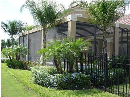 Image Result For Florida Backyard With Screened Pool Enclosure Backyard Pool Landscaping Pool Landscape Design Landscaping Around Pool