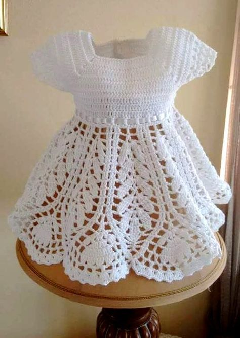 Tutorial en español de Vestido a Crochet para Niña | Vestidos en ...