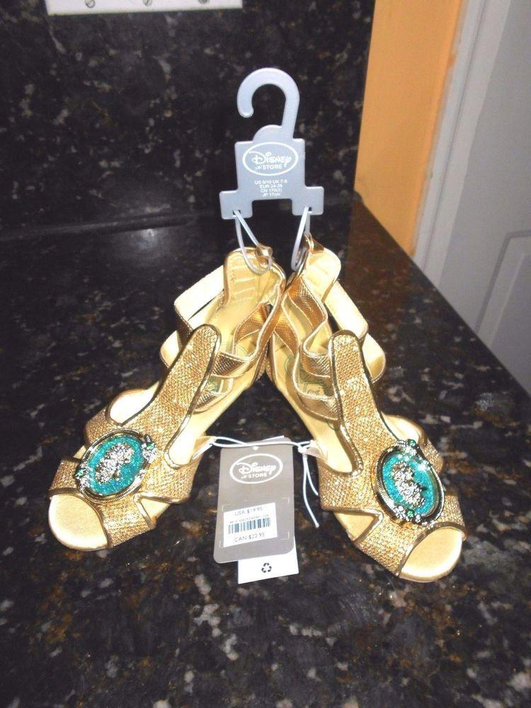 628df1bf6613 Princess MERIDA GOLD GLADIATOR SANDALS COSTUME SHOES 9 10 T NWT!!  Disney