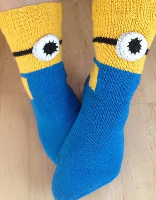 Knitting Pattern For Minion Socks By Sandrine Rousseau Instructions