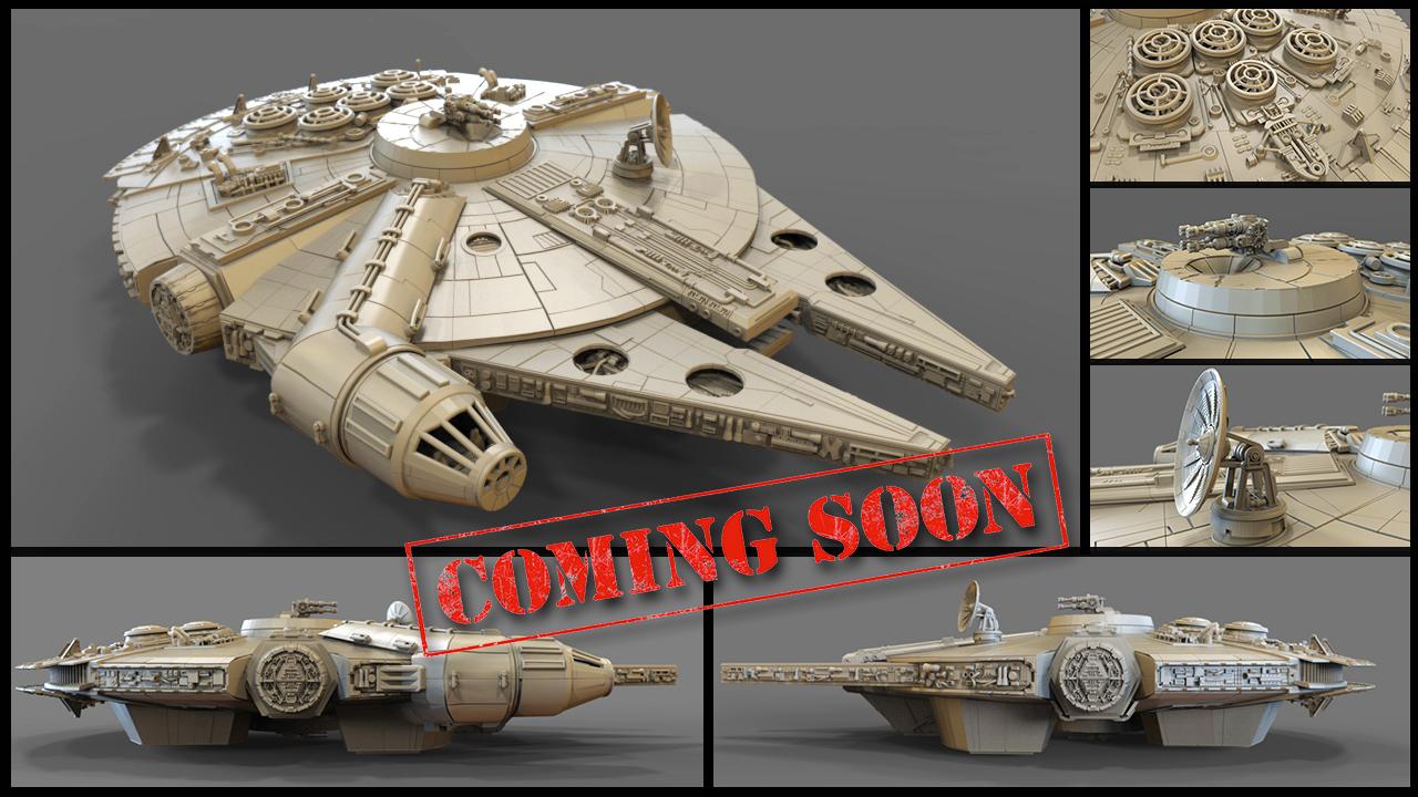 Millenium Falcon 3d Print Model Coming Soon Millenium Falcon Print Models Model