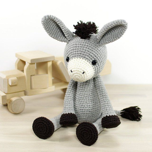 PATTERN: Donkey - Amigurumi crochet pattern and tutorial (EN-077) #instructionstodollpatterns