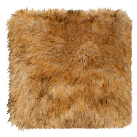 A cozy addition to the sofa or your favorite reading nook, this faux raccoon fur pillow cover offers a touch of texture to your favorite spaces....