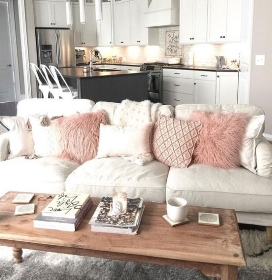 10 Gorgeous Neutral Living Rooms Neutral palette, Light colors and - wohnzimmer grau rosa