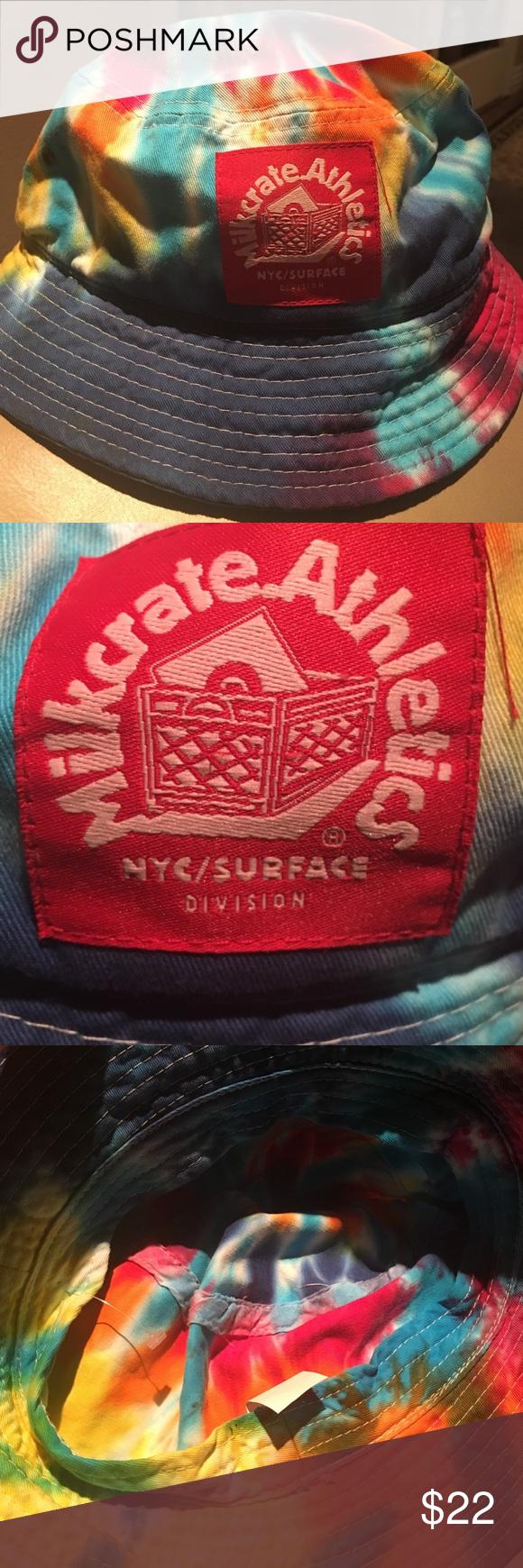 Milkcrate tye dye bucket hat Worn a few times, tye dye Milkcrate brand bucket hat. Excellent condition Milkcrate Accessories Hats