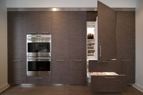 Sub Zero Integrated Refrigerator Kitchen Designed By
