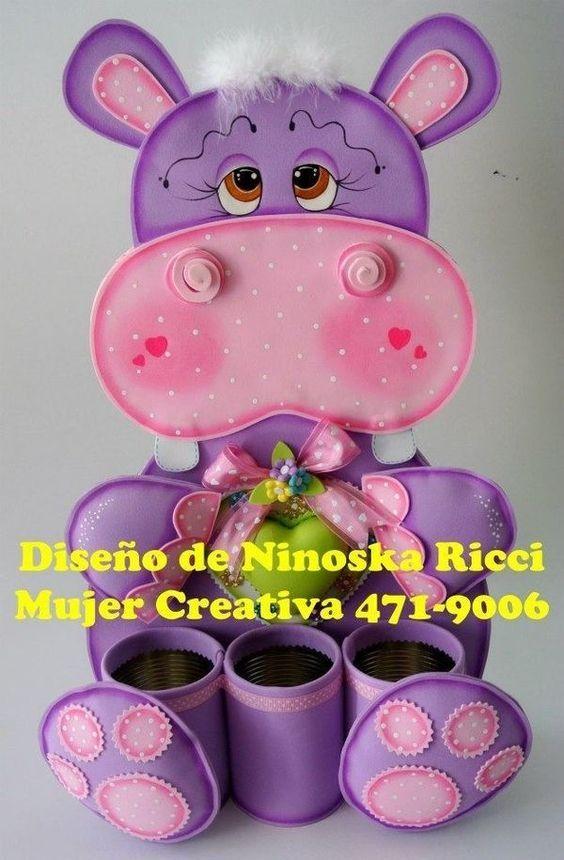 Hipopotamo fomy goma crepla Ideas Pinterest Hipopótamo, Fomy - ideas creativas y manualidades
