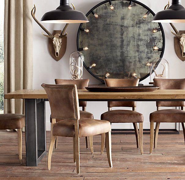 Mesa comedor madera forja muebles pinterest mesa - Muebles de forja y madera ...