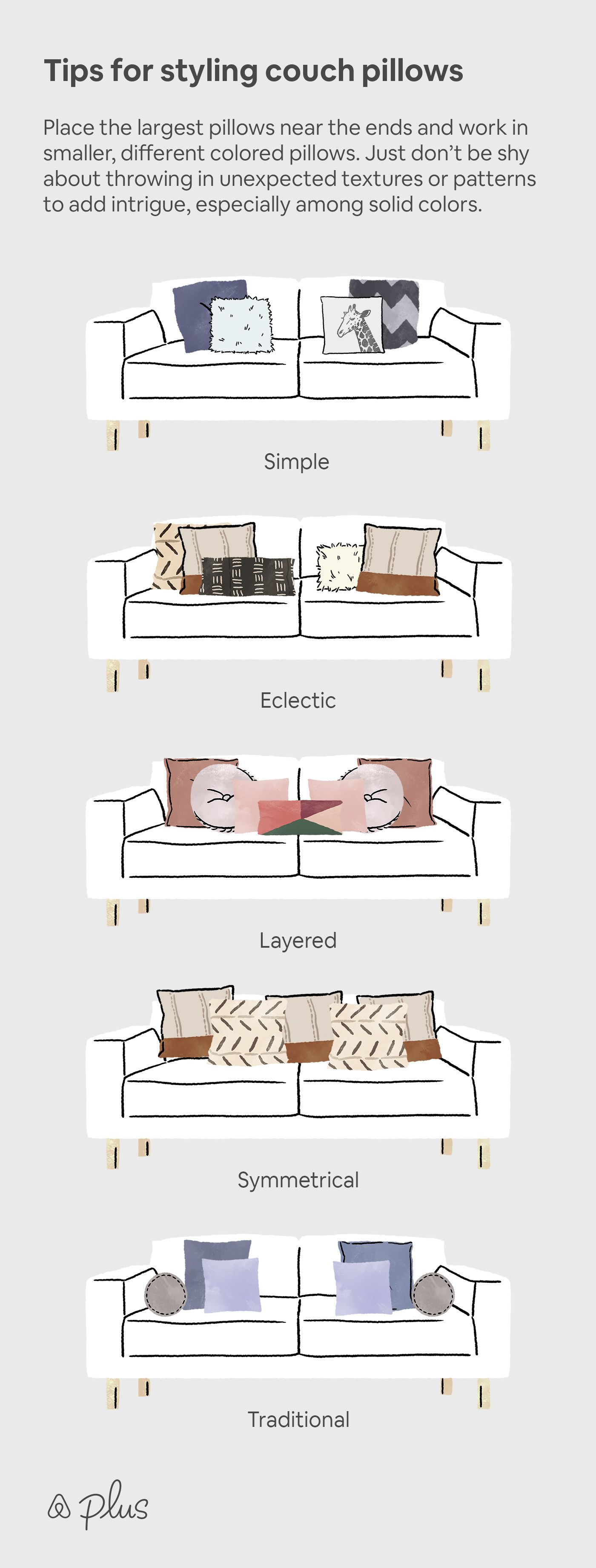 Tips for styling couch pillows images