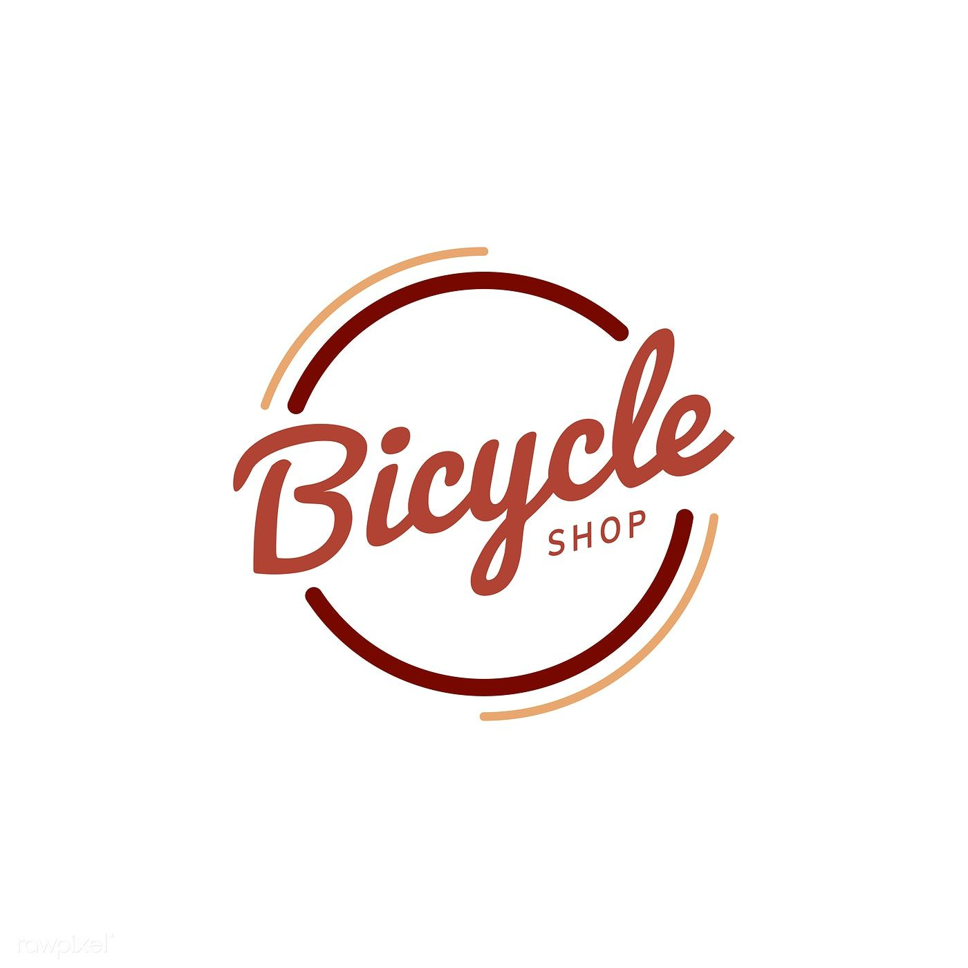 Bicycle shop logo design vector free image by rawpixel