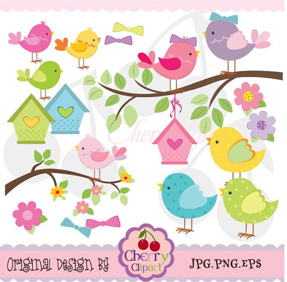 Little Birds clipart digital set  forPersonal and by Cherryclipart, $3.50