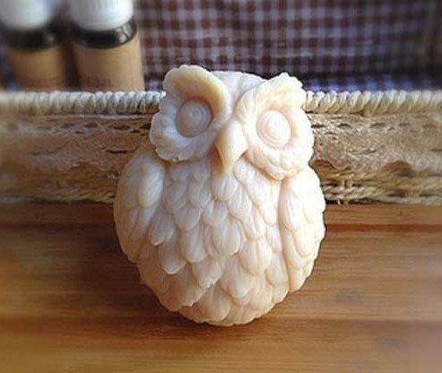 Owl Soap Mold Flexible Silicone Mold Animal Soap Mold New