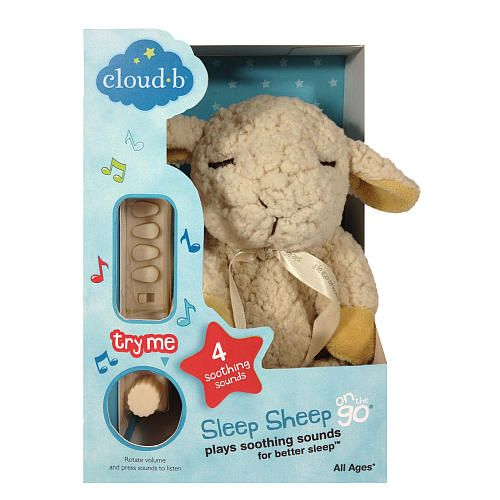 Cloud B On The Go Sleep Sheep Travel Size Plush Sound