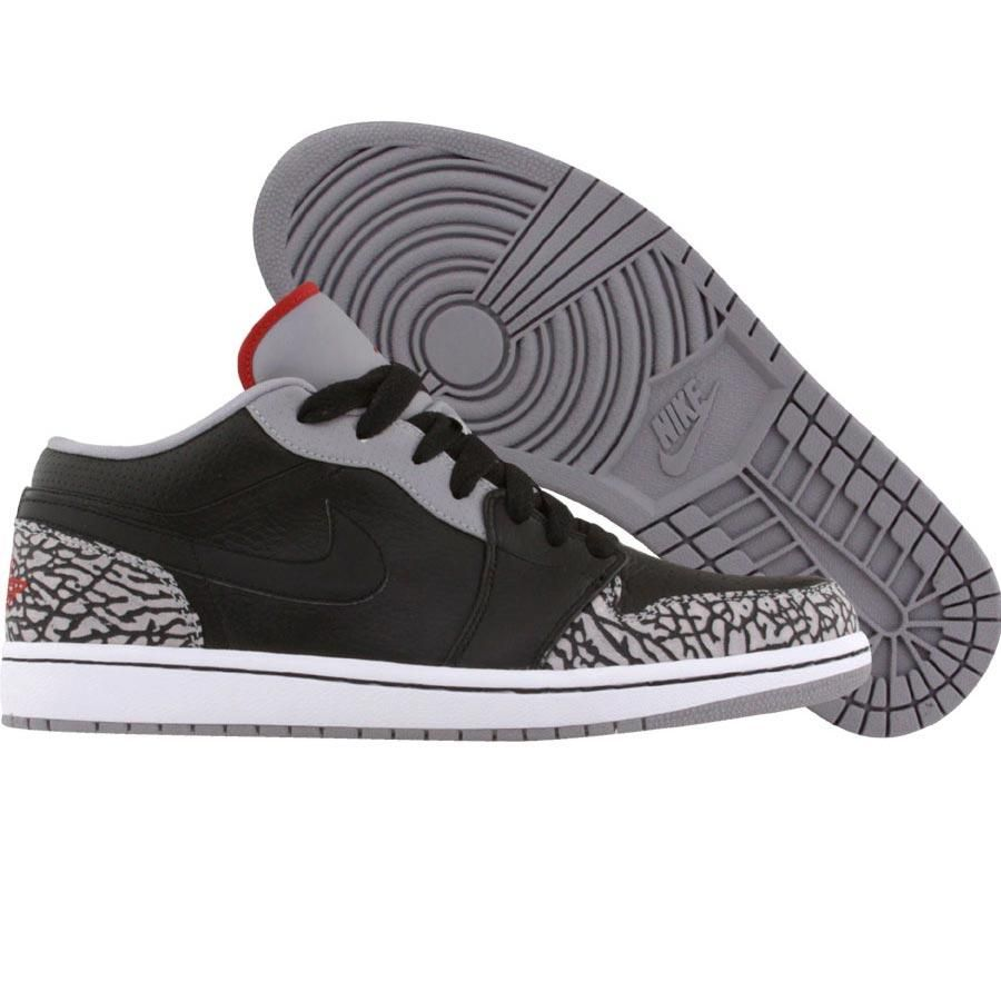 Favorite Jordan 1 x 3 collab. Nike Air Jordan 1 Phat Low (black   varsity  red   white   cement grey 747bbd2b6e