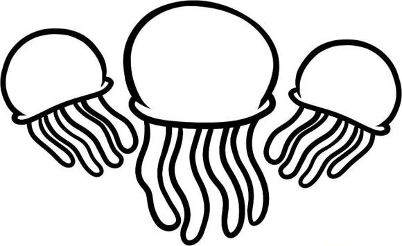 Three Jellyfish Coloring Pages Coloring Pages Fish Coloring Page Abstract Coloring Pages