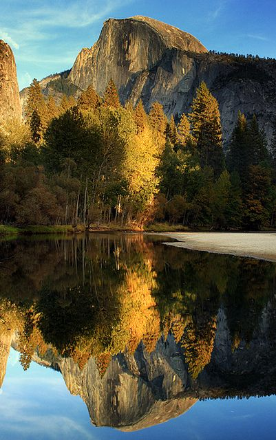 Reflected Half Dome, Yosemite National Park, United States - photo by Jason Branz.