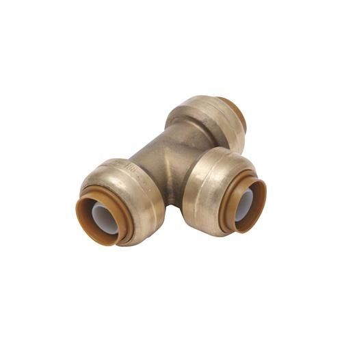 SharkBite Brass Push-to-Connect Tee, Brown