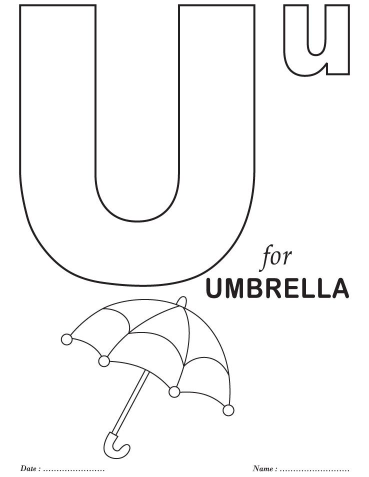 printables alphabet u coloring sheets - Alphabet Coloring Pages For Kids