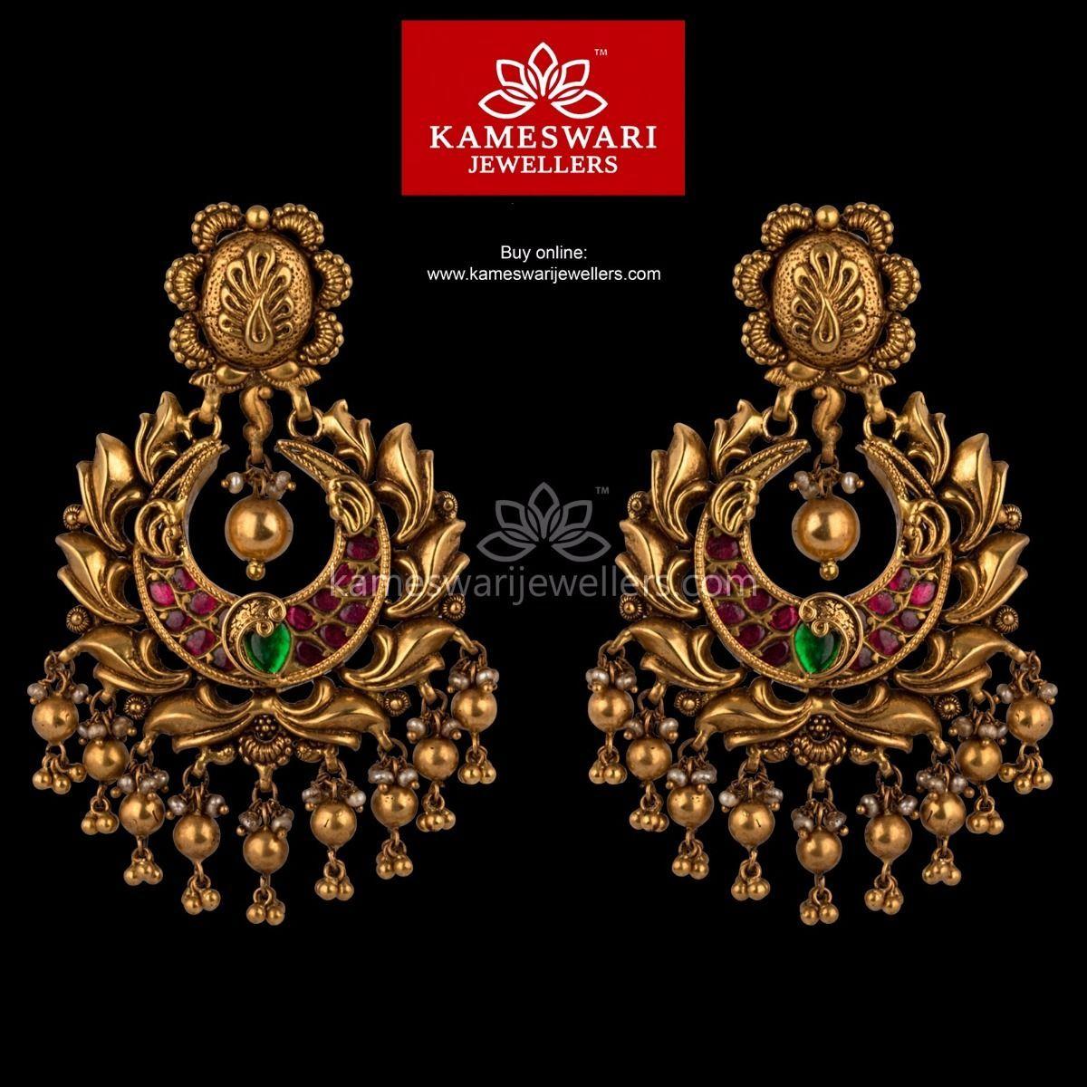 bd4dc7c2cf2 Buy traditional Earrings online at Kameswari Jewellers in India.