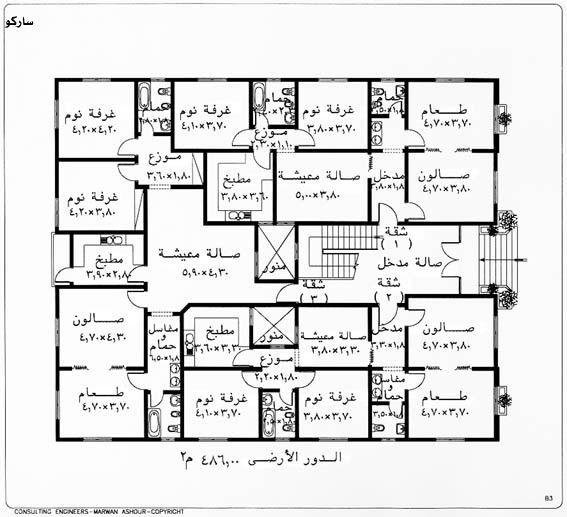 مخطط شقق دورين Town House Floor Plan House Layout Plans Home Design Plans
