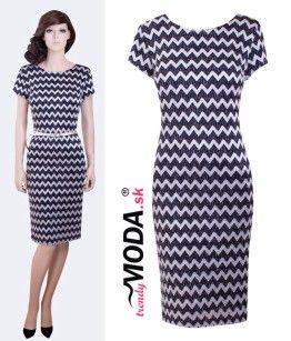 38f47d6ea1b0 Elegantné šaty s opaskom - trendymoda.sk