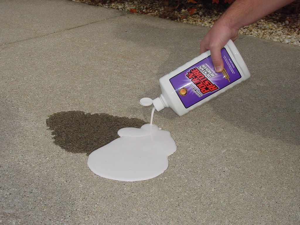Cleaning oil stains on your driveway oil stains for Driveway stain remover