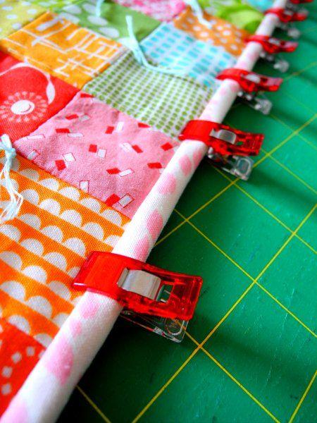 machine binding quilt