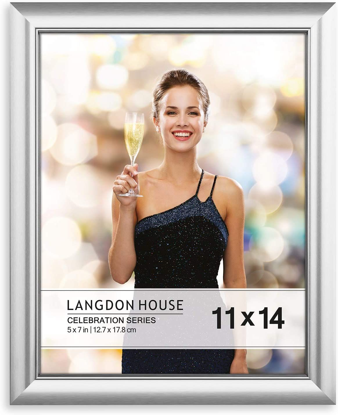 Amazonsmile Langdon House 11x14 Picture Frame 1 Pack Silver Silver Photo Frame 11 X 14 Wall Mount Or Table T In 2020 11x14 Picture Frame Celebrities Photo Frame