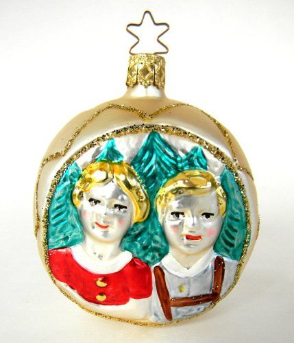 German Heidi and Peter Blown Glass Christmas Ornament Gold Star on