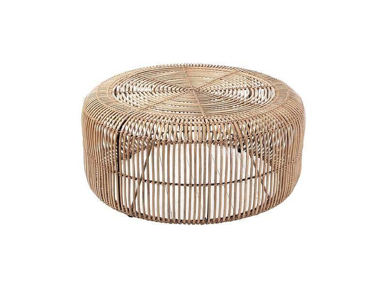 Hk living rotan coffee table natural home table