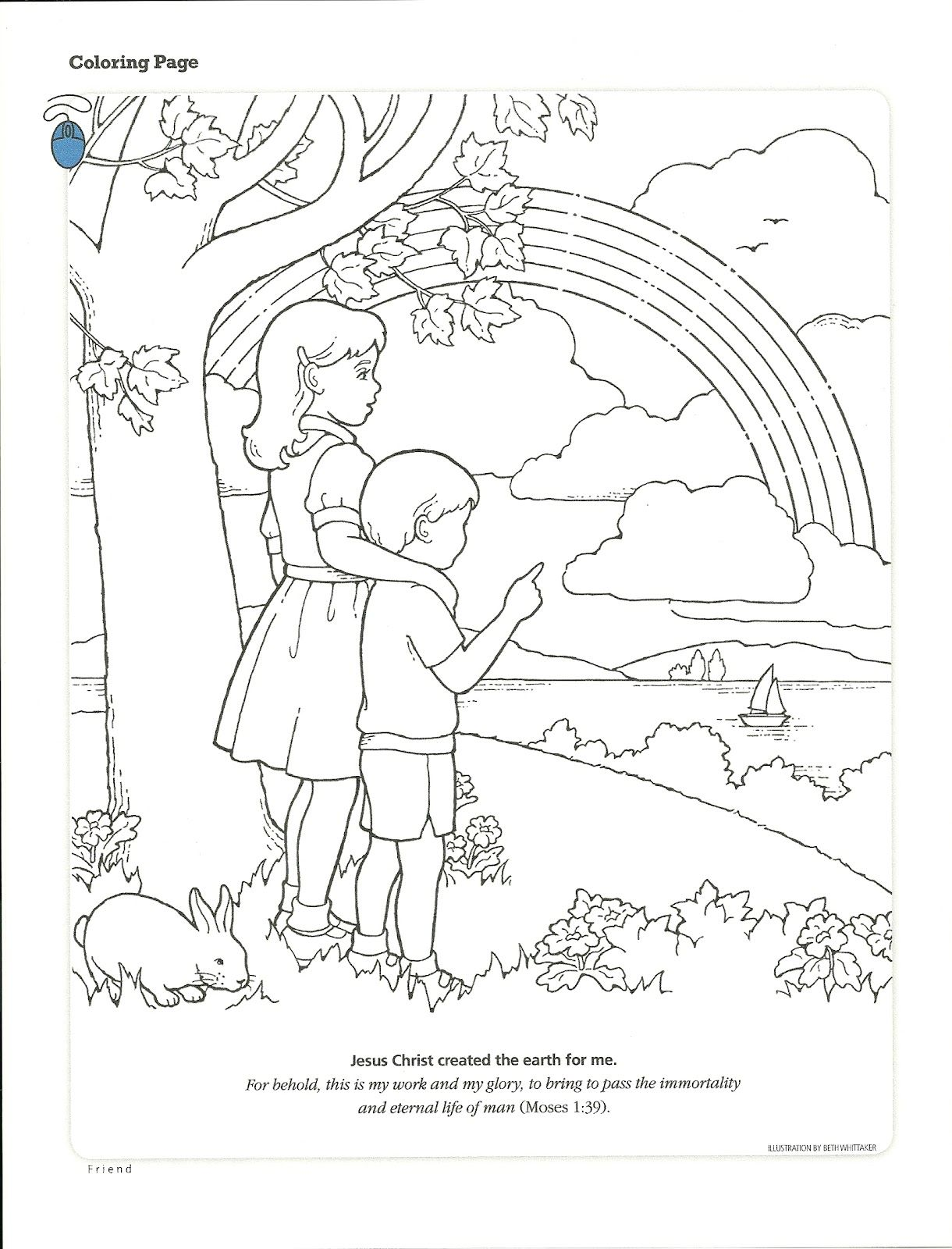 God Created Man Coloring Page