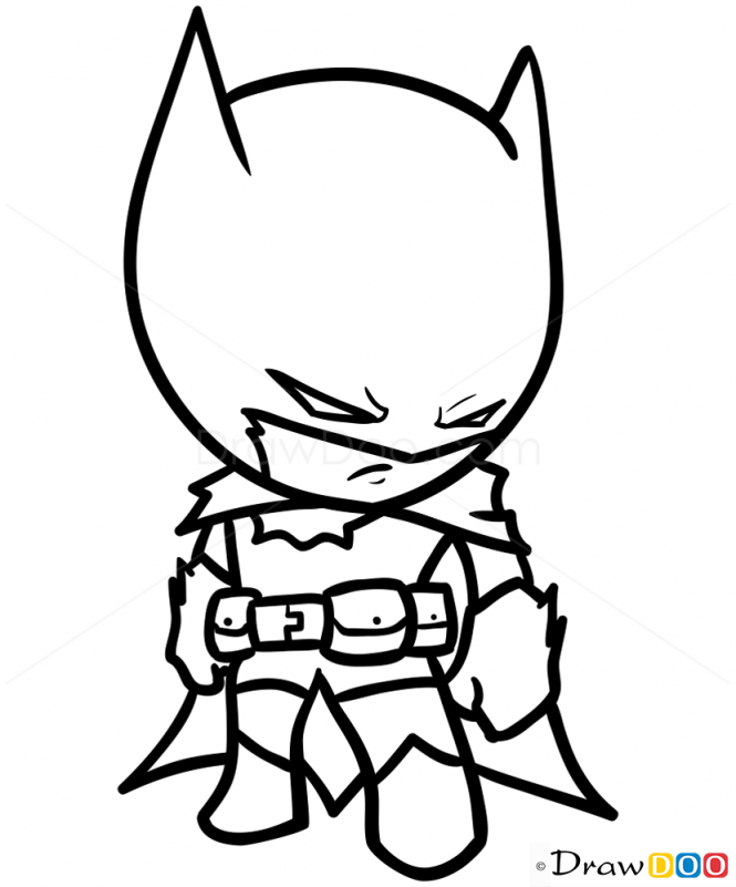 How to Draw Batman Chibi How