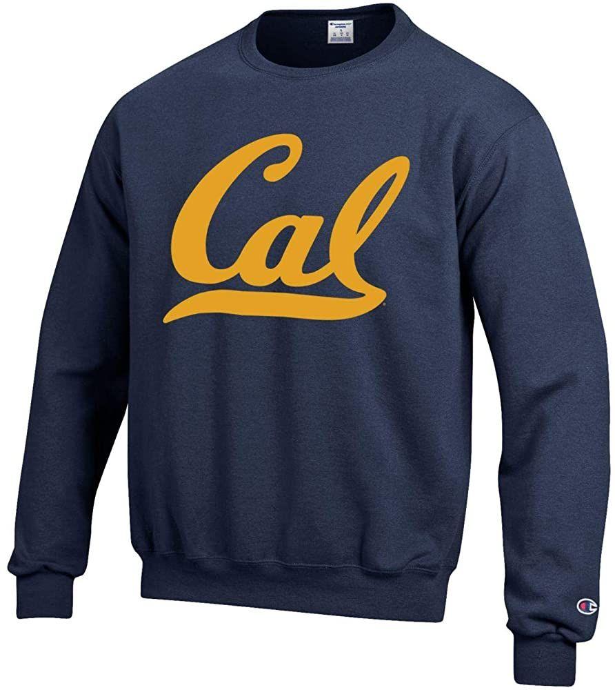 Amazon Com Champion U C Berkeley Cal Bears Script Cal Crew Neck Sweatshirt Navy Clothing Crew Neck Sweatshirt Sweatshirts Champion Sweatshirt [ 1000 x 892 Pixel ]