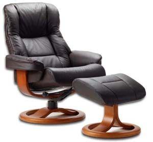 Fjords 855 Loen Ergonomic Leather Recliner Chair Ottoman Scandinavian Norwegian Lounge Chair By Hjellegjerde Brown Leather Recliner Chair Furniture Chair Recliner