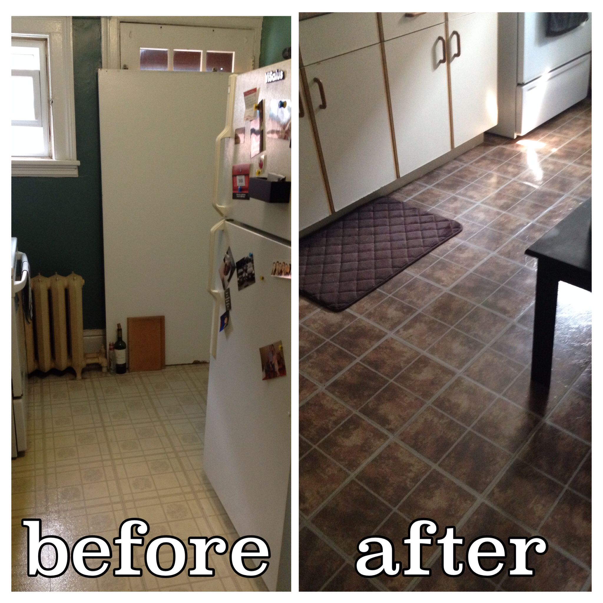 Diy Floors These Are Stick On Tiles From The Dollar Store 30 To A
