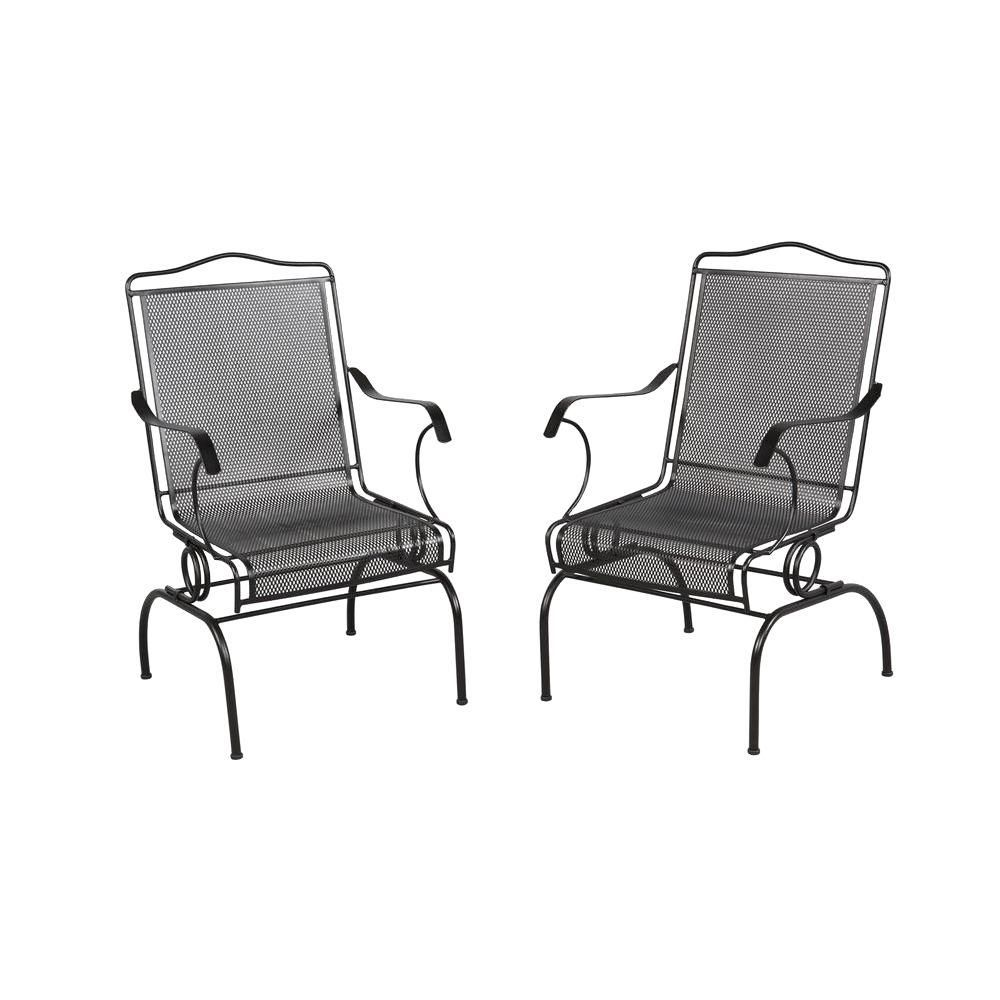 Hampton Bay Jackson Action Patio Chairs 2 Pack Outdoor Dining