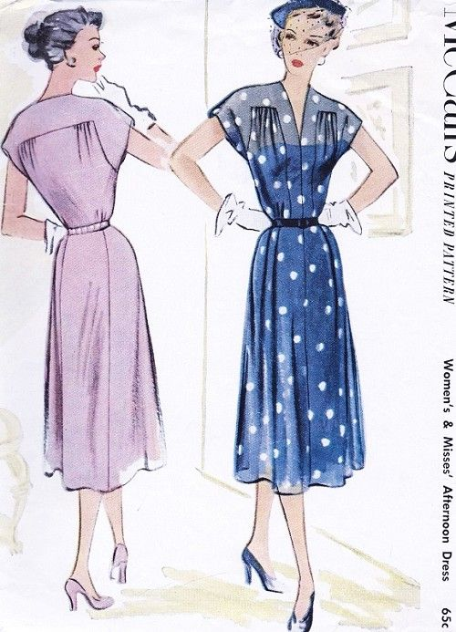 1950s Beautiful Dress Pattern McCALLS 8578 Daytime or Afternoon ...